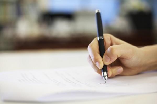 書類 サイン