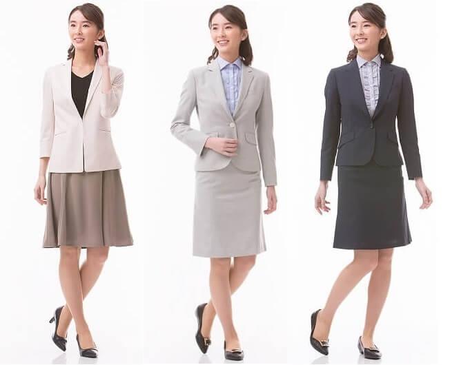 女性 転職 スーツ スカート